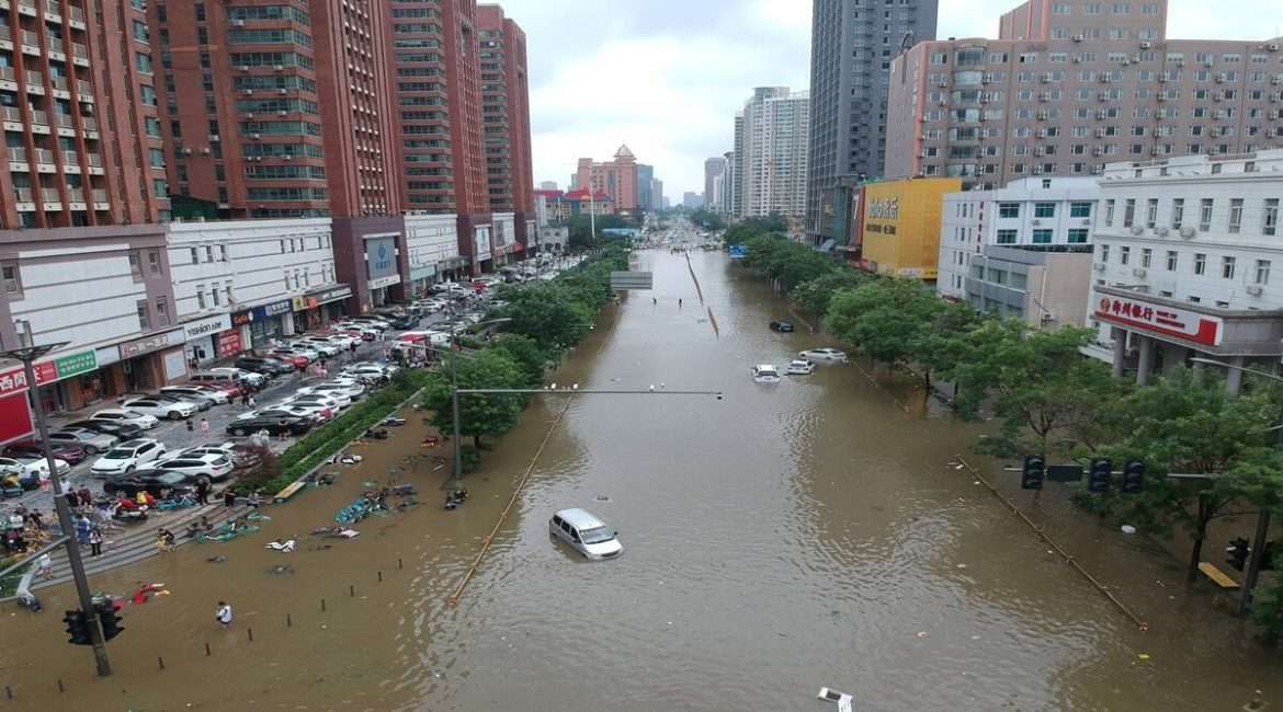 'Please save us!' Grim scenes in China as flood inundates a subway